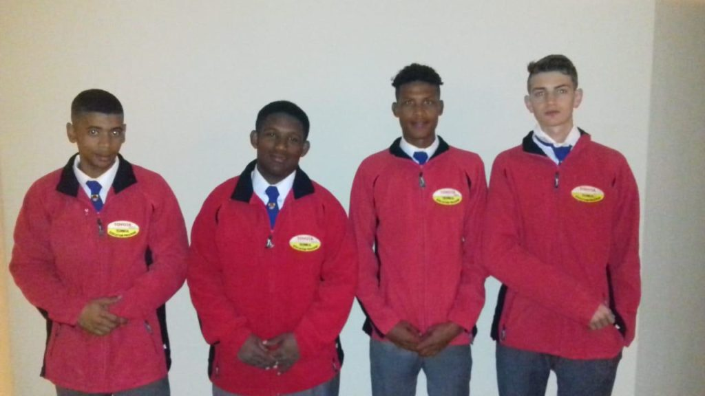From left to right: Keanen Ahrendse, Ignatius Isaacs, JP Hendricks and Neil Swart